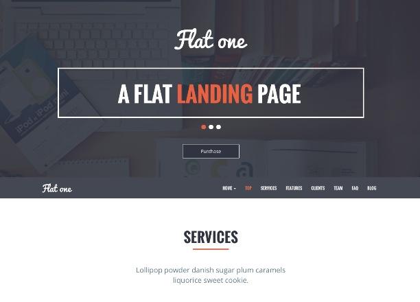 flat-one-single-page-theme