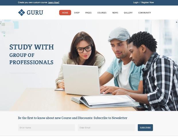 guru-learning-management-wordpress-theme