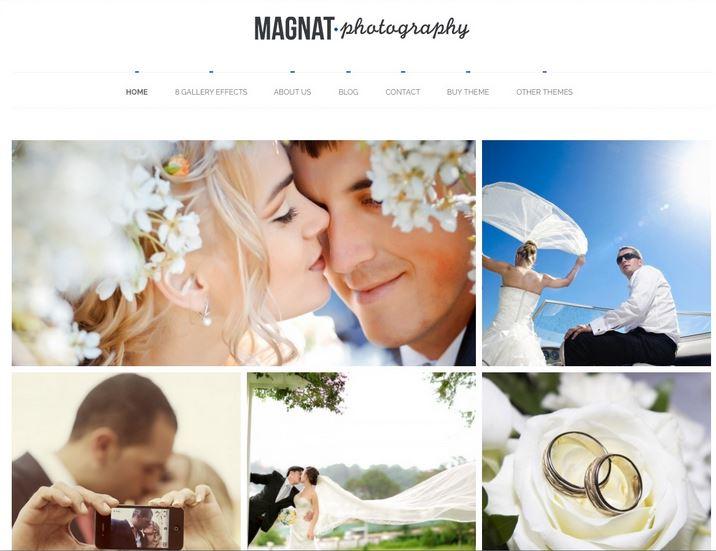 Best Wedding WordPress themes magnat