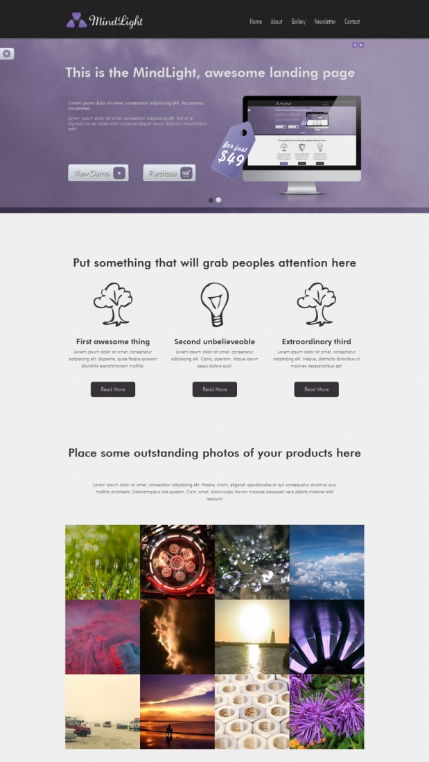 mindlight-wordpress-theme-landing-page