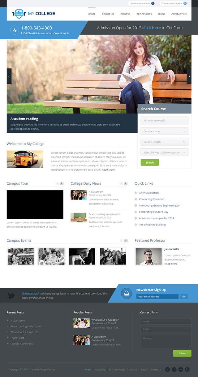 my-college WordPress theme