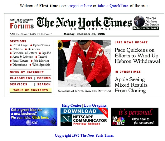nytimes old design