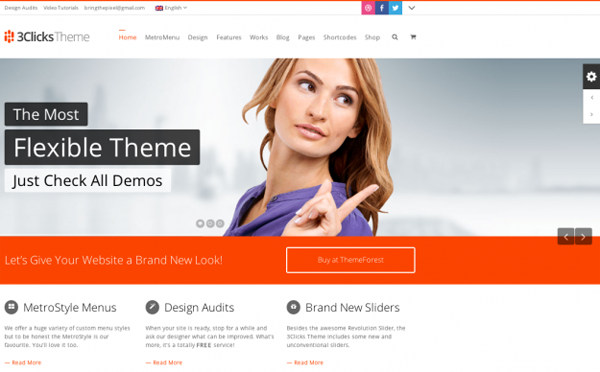 3Clicks WordPress Theme