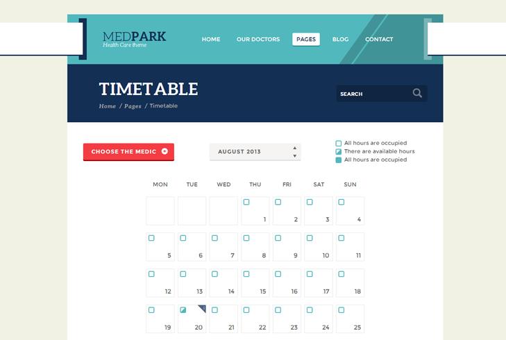 MedPark Timetable