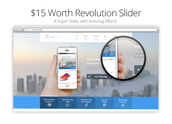 Display Theme Revolution Slider