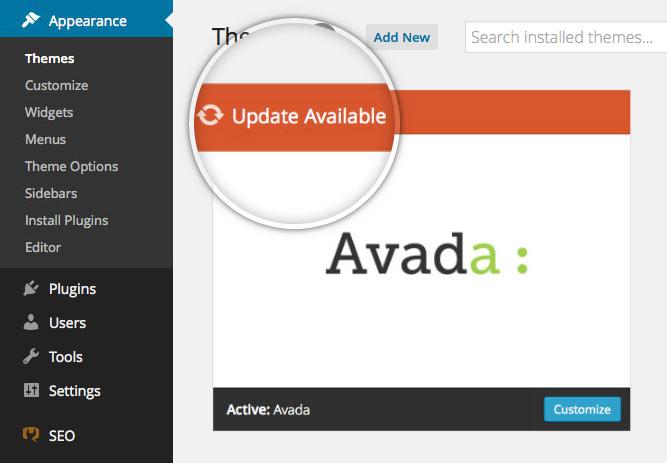 Avada Theme Updates