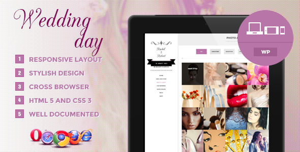 Wedding Day Responsive Design