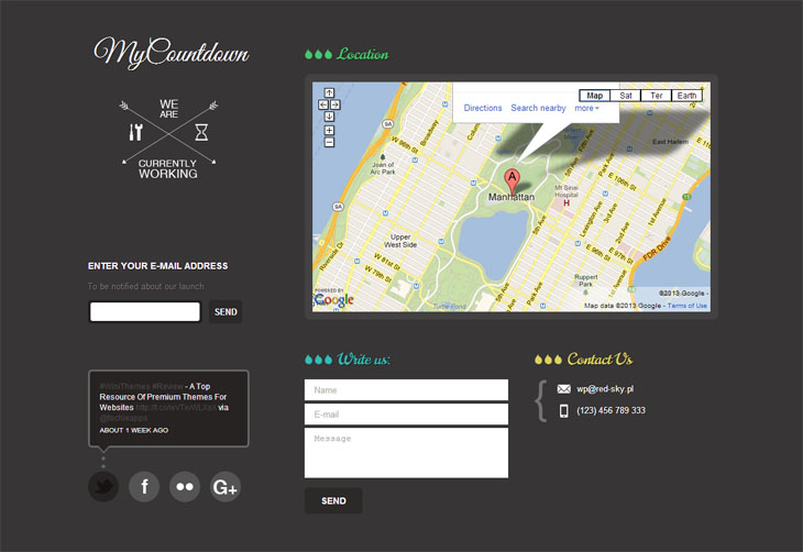 MyCountdown Contact Page