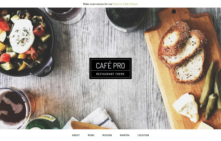Cafe Pro Theme Header