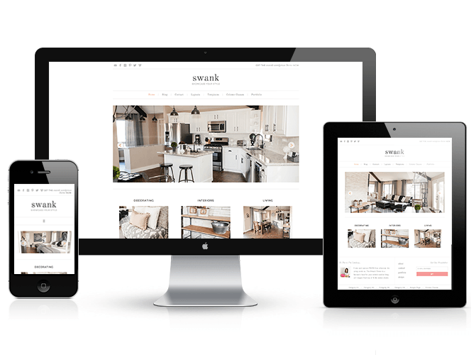Swank theme responsive design