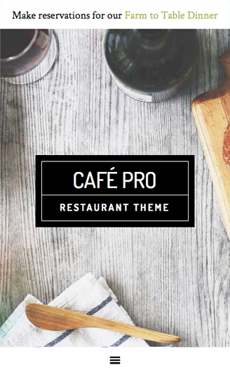 Cafe Pro Responsive layout