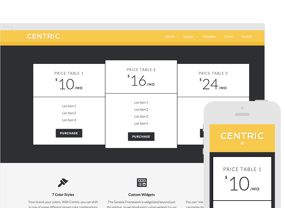 Centric Pro Responsive Layout