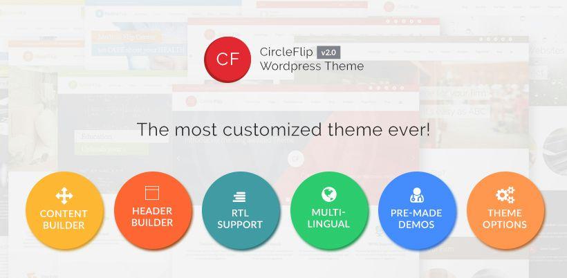 Circle Flip WordPress Theme